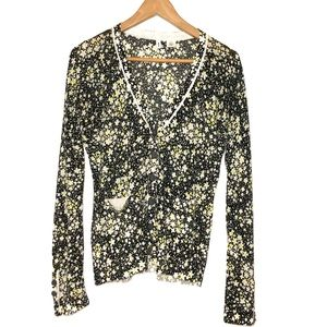 MOTH🌿ANTHROPOLOGIE FLORAL V-NECK CARDIGAN